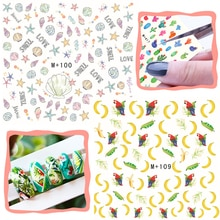1pc bonbons Cupcake Nail Art autocollants café doux fleur de prunier filigrane transfert deau ongles manucure bricolage M + autocollant décalcomanies