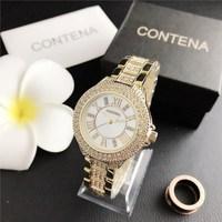 CONTENA Luxury Top Brand Quartz Watch Stainless Steel Female Clock Relogio Feminino Montre Femme