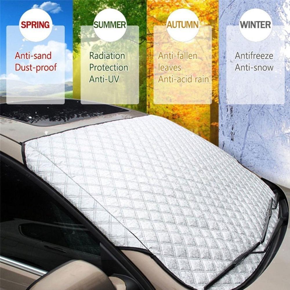 Автомобильные чехлы для лобового стекла, защита от снега, мороза, льда, ветрового стекла, пыли, защита от нагрева, солнца, льда, большого снег...
