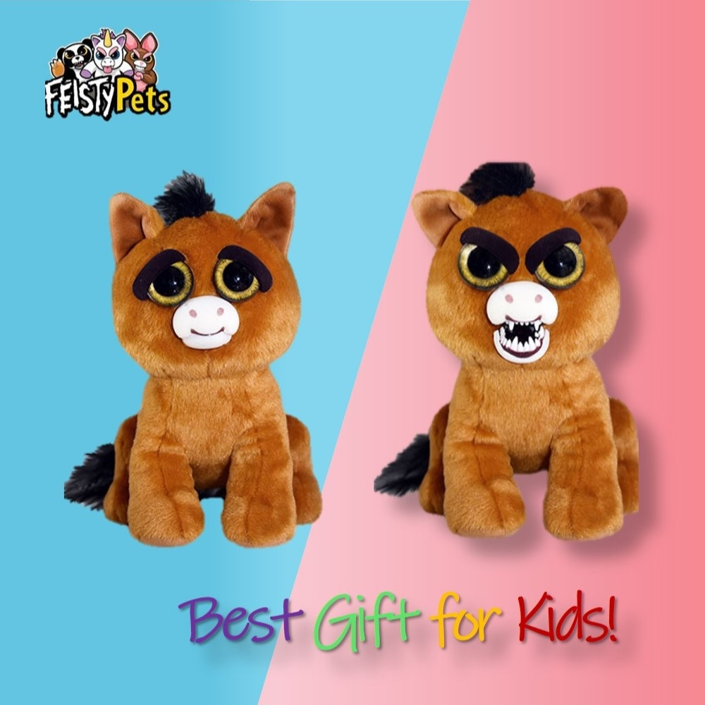 Feisty Pets toys stuffed plush adorable doll gift angry animal horse
