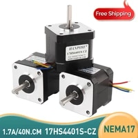 3pcs nema17 stepper motor 42 series motor 17hs4401s cz 40n cm 1 7a 4 lead stepping motor with magnetic pole hole