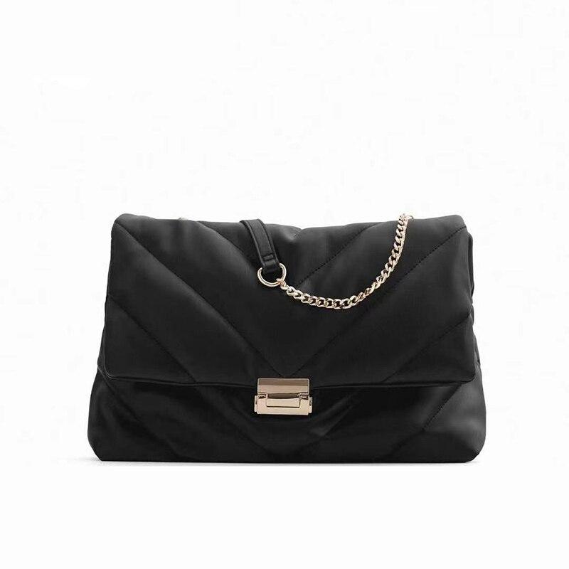 V-line Chain Crossbody Bag For Women 2021 New Black Fashion Sac A Main Female Messenger Shoulder Bags Female Handbags And Purses