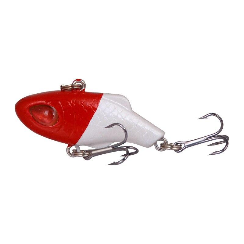 Vissen água doce mar isca de pesca 5 pçs/lote longo tiro laser vib pequeno peso 3.5cm/5g abs isca de pesca