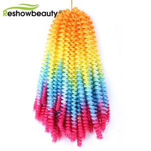 Bounce Jumpy Spring Twist Crochet Braid Hair Extension Synthetic Braiding Twist Hair 30 Strands/Pack Crochet Braids Reshowbeauty