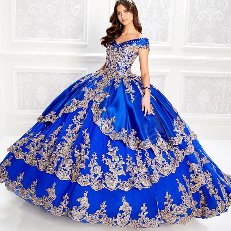 Женское Пышное Платье с открытыми плечами, бальное платье с аппликацией из бисера, Королевского синего цвета, недорого, 16