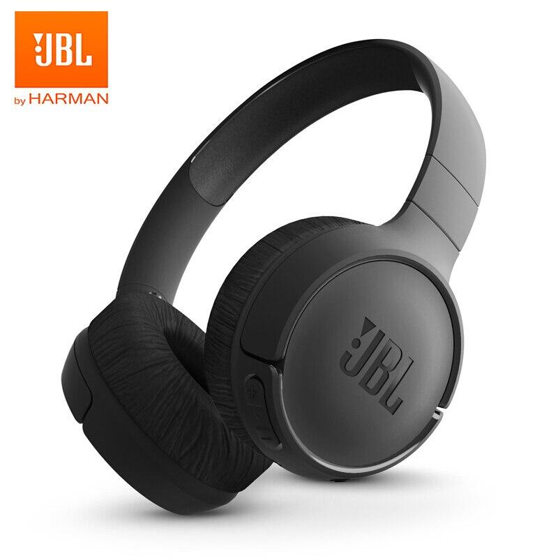 JBL T500BT auriculares inalámbricos Bluetooth con sonido de graves profundos auriculares deportivos con cancelación de ruido de micrófono auriculares plegables originales