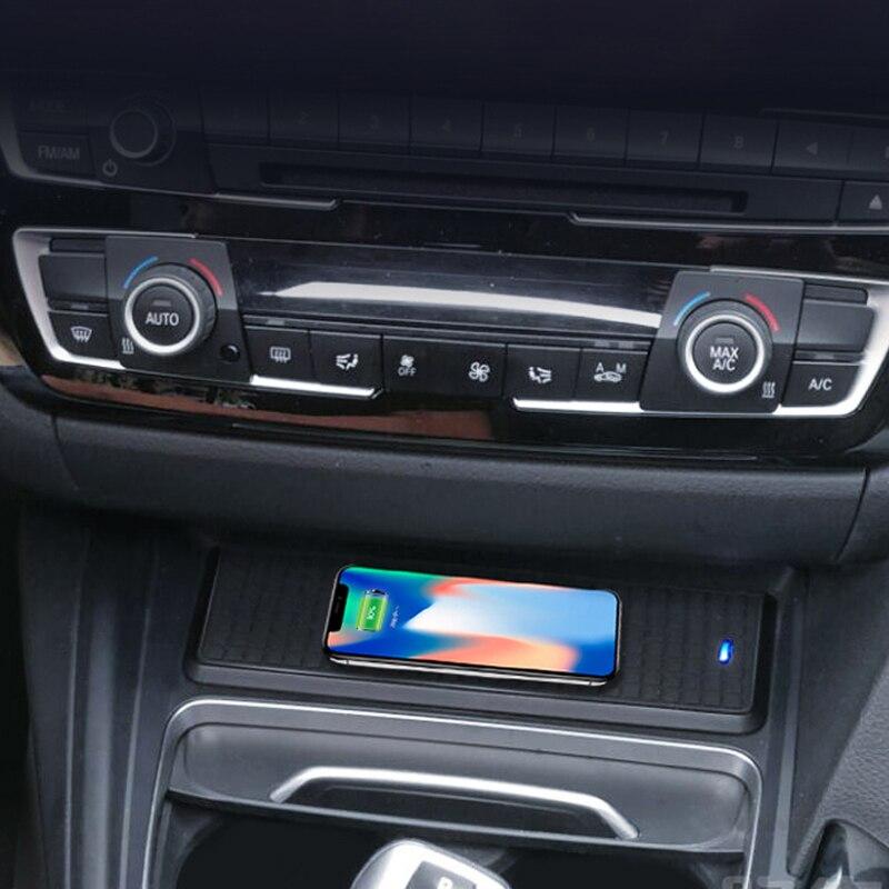 سيارة تشى اللاسلكية شاحن مركز وحدة التحكم كأس الماء حامل الكسوة لسيارات BMW 3 سلسلة F30 F31 F32 3GT F34 F36 صندوق تخزين الإطار الداخلية