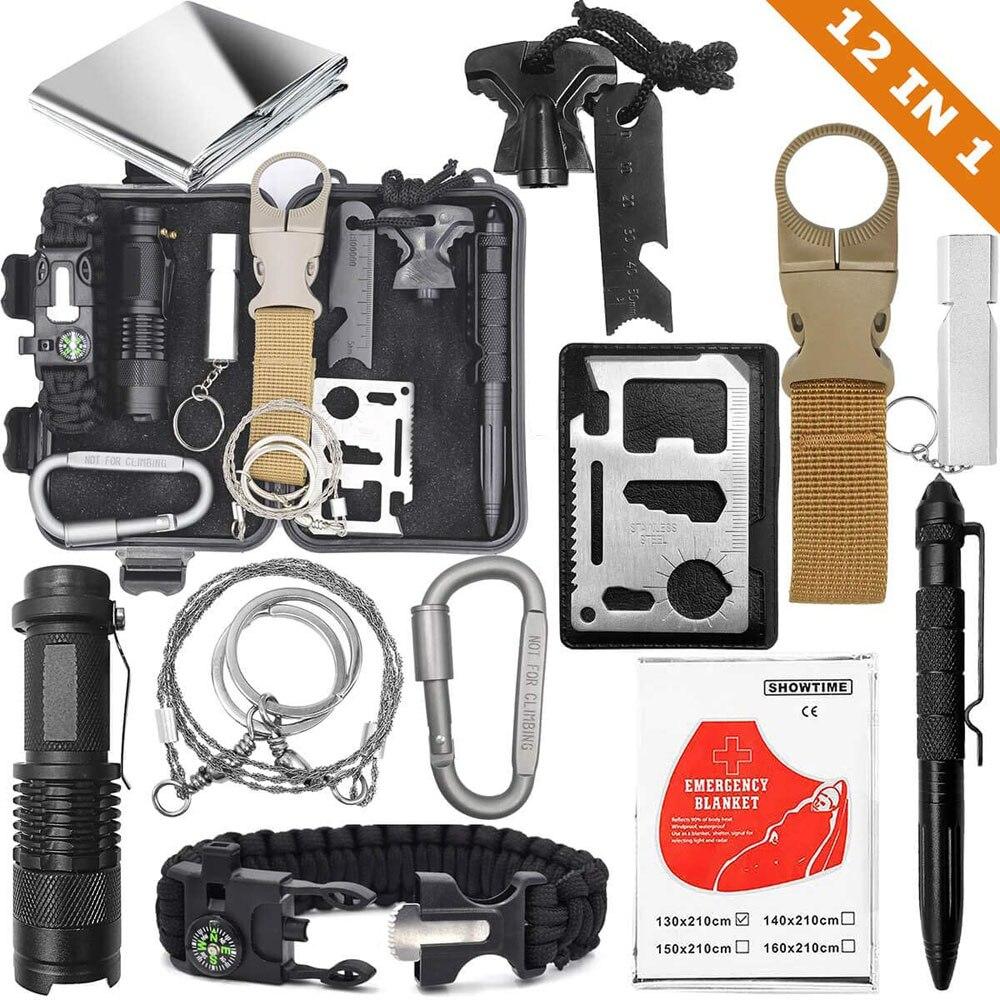 Аварийный набор для выживания EDC, инструмент SOS для наружного рюкзака, походные подарки для мужчин, детей с фашистским компасом