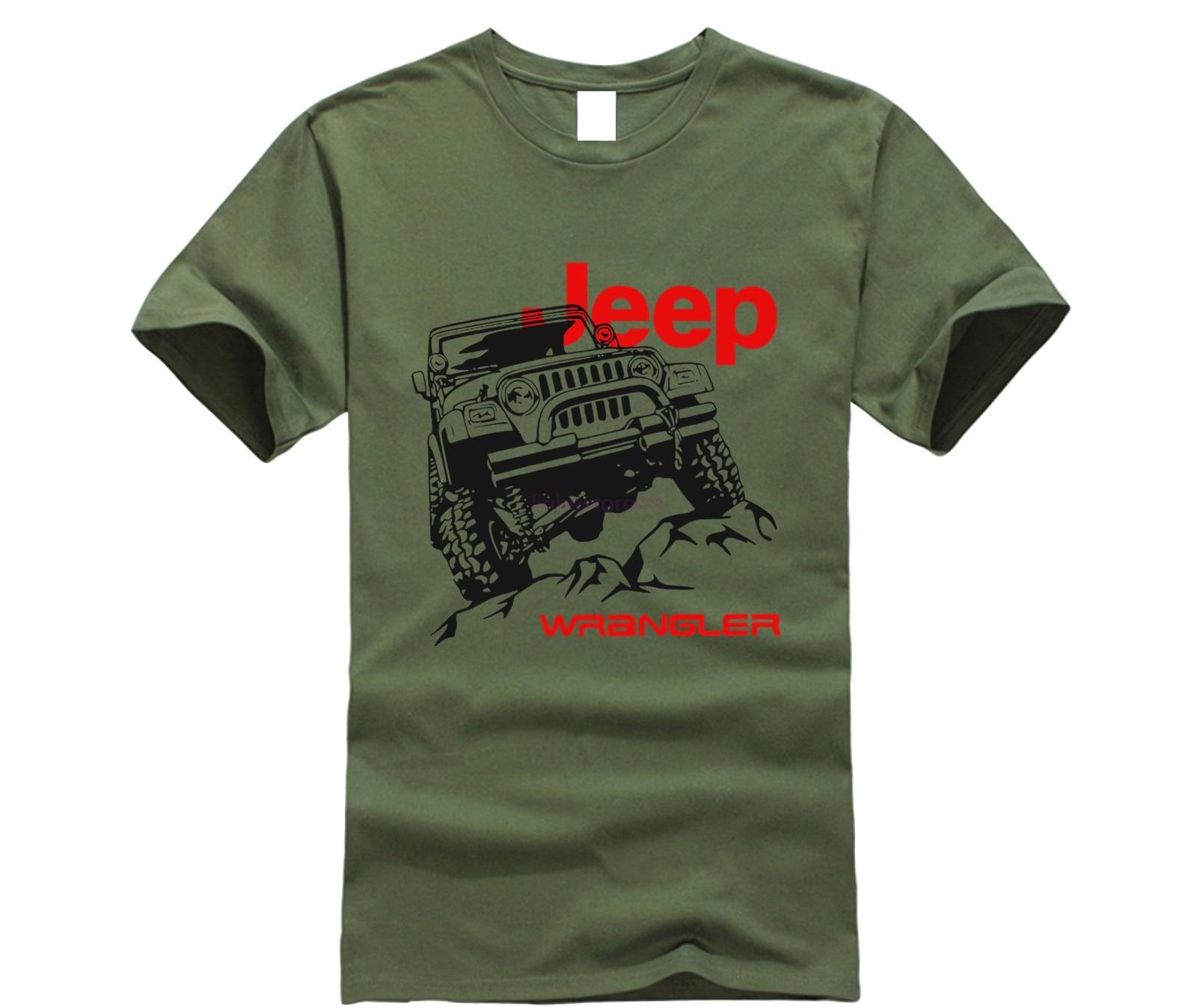 2019 roupas de verão da marca T-Shirt dos homens do Logotipo Do Carro Jeep Novo