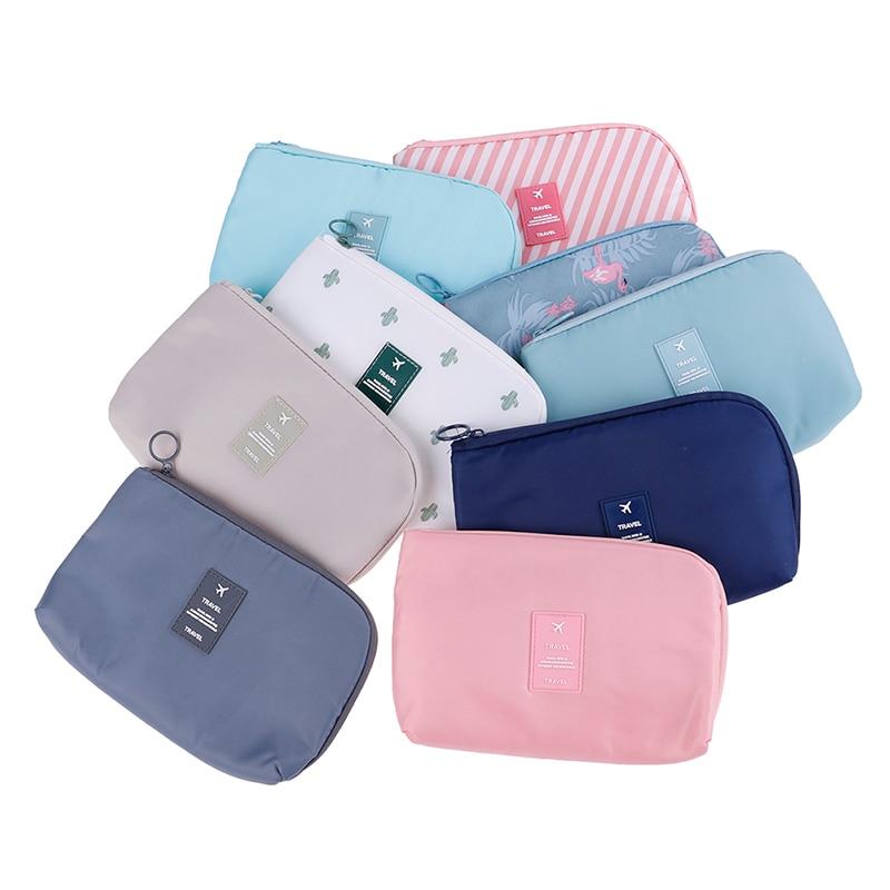 7 Styles Travel Waterproof Cosmetic Bag Portable Flamingo Makeup Bag Toiletry Kits Women Necessaire