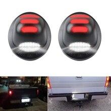 Para Fo rd F150 F250 F350 1999-2016 2 uds 18LED placa etiqueta luz del coche de la luz de matrícula trasera