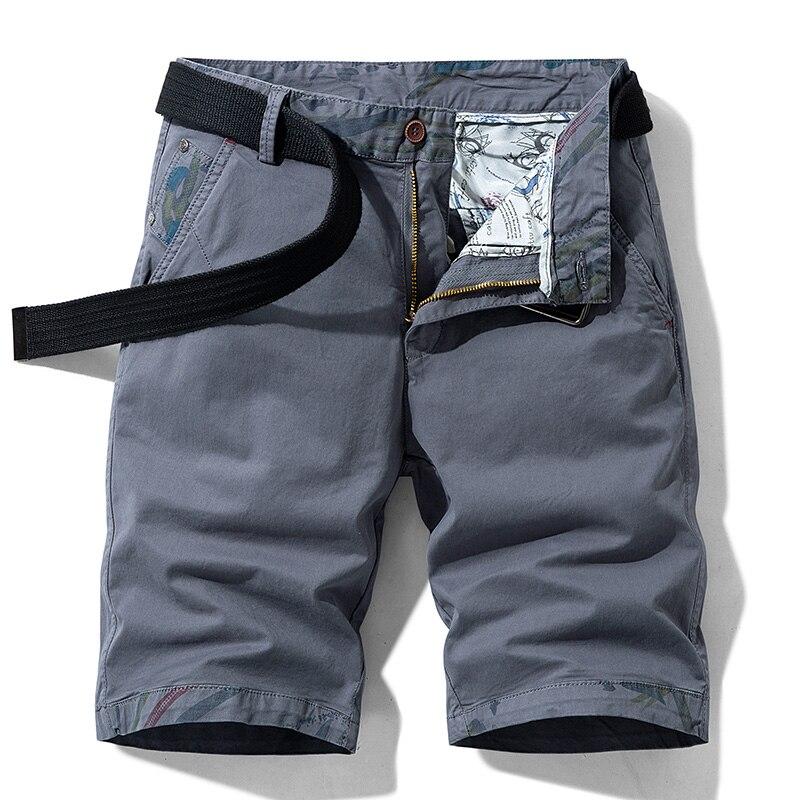Летние повседневные шорты teсторонней длины 2021, мужские летние модные хлопковые прямые брюки-карго, пляжные брюки для путешествий и покупок
