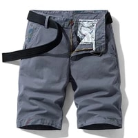 tehezad 2021summer casual shorts mens summer fashion fit cotton straight leg cargo pants travel shopping beach five point pants