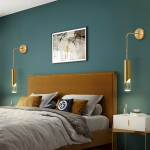 Modern Adjustable Bedside Lamp Wall Lamp Black Gold Luxury Nordic Up Down Reading Light Wall Light Sconce for Aisle Indoor