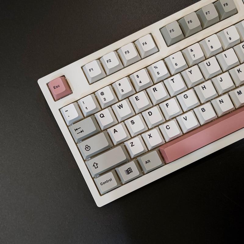 126 مفاتيح 9009 كيكابس PBT التسامي ارتفاع الكرز الميكانيكية لوحة المفاتيح كيكابس ل الكرز MX التبديل 61/64/68/87/104/108 6.25u6u