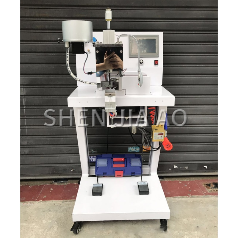 1PC Beading Nail Button Machine Four-claw Beading Clothing Buttoning  Machine Fully Automatic Bead Shoes Hats Fabric Machine