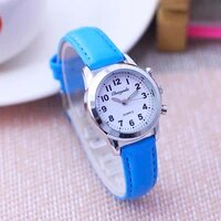 2021 fashion women lady leather watches girls boys students kids casual digital small round watches 8 colors electric watches