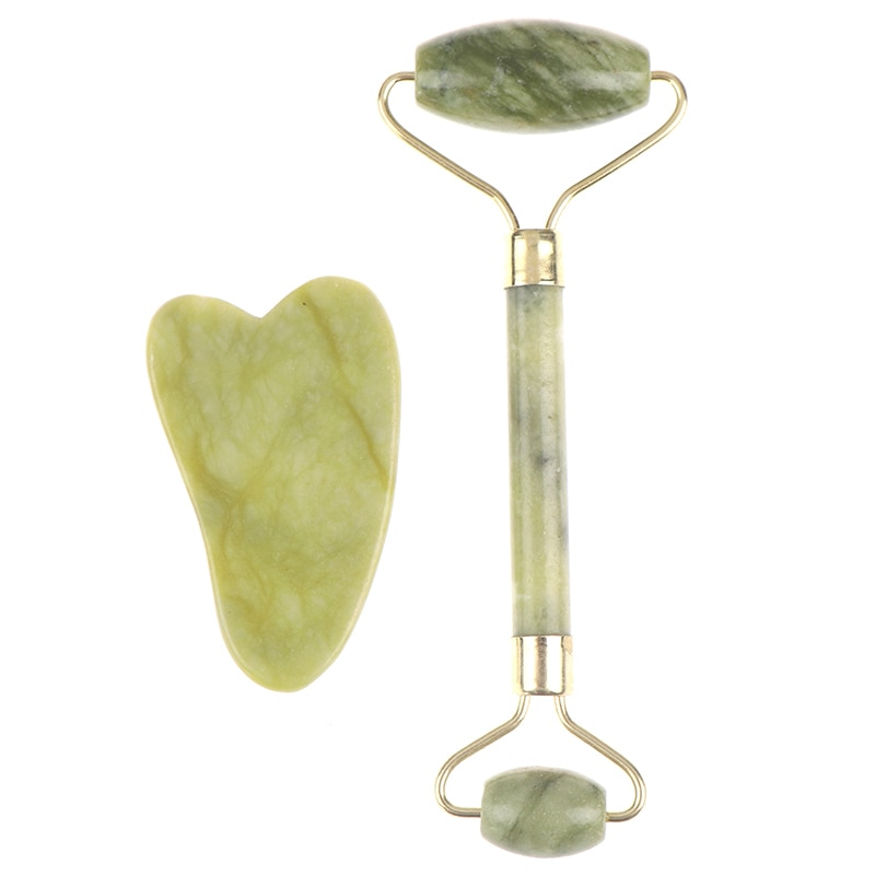 5styles Scrapping Plate Massage Roller Gua Sha Tool Natural Jade Scraper Massager Eye Face Neck Thin Lift Relax Slimming Tools