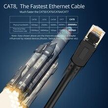 8M/10M/15MCat8 Netzwerk CableNetwork Kupfer Computer Netzwerk Kabel 6,5mm Draht Durchmesser RJ45 Interface Anwendbar router Verbinden
