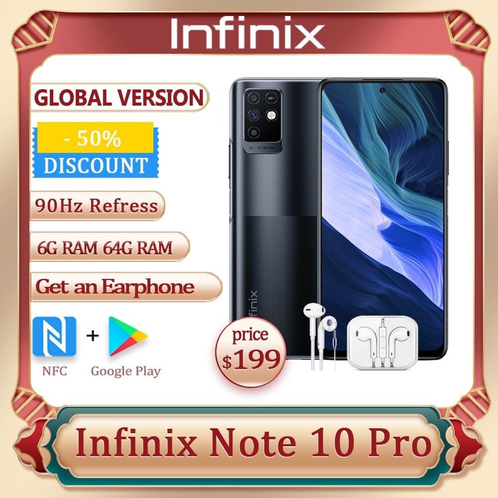 Смартфон Infinix Note 10 Pro глобальная версия NFC, 6 ГБ + 64 ГБ, экран 6,95 дюйма FHD +, камера 64 мп, 90 Гц