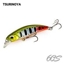 Leurre de pêche TSURINOYA DW67 60mm 6.1g Minnow coulant Isca artificiel Pesca Mini manivelle Wobbler appât dur pour brochet
