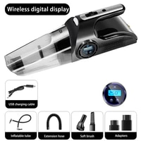 portable multi function lcd digital display 4in1 car wireless rechargeable vacuum cleaner wet dry portable inflatable air pump