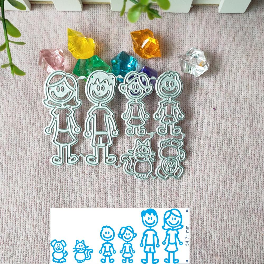 Family members craft die metal cutting die scrapbook stamp carving paper card stamping die new DIY die