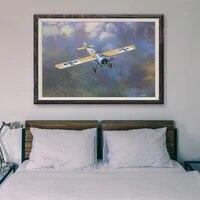 Peinture retro classique T074  25 affiches en soie personnalisees  operations de vol davion de guerre  Art mural  cadeau de noel