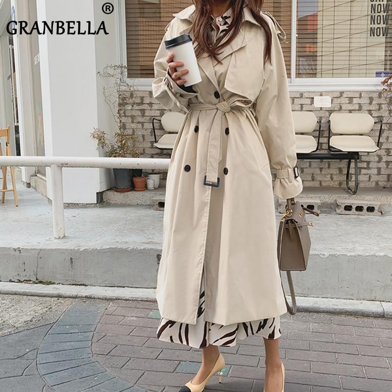 Gabardinas largas de estilo ruso para Mujer, Abrigos de algodón de gran...