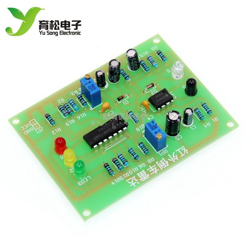 Infrared reversing radar Electronic production kit Infrared reversing speed reminder Electronic asse