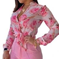 blouses women shirts short sleeve summer sum proof harajuku rose print vintage retro korean style loose teens streetwear chic