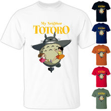 Camiseta de ANIME My Neighbor Totoro V1 Hayao Miyazaki 1998 para hombres y mujeres, camiseta blanca de todas las tallas S-3XL para jóvenes de mediana edad