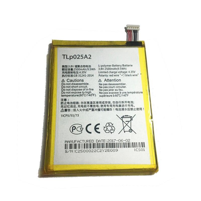 2500mAh de la batería móvil TLp025A2 para Alcatel One Touch Onetouch POP C9 Dual 7047D ídolo X Plus OT 6043D 8000D 8008D batería