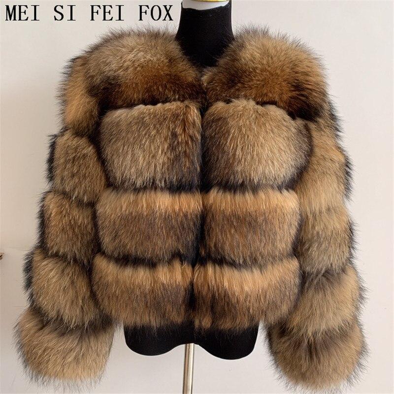 الطبيعية الراكون الفراء معطف قطع كبيرة من جودة عالية ريال الراكون الفراء النساء معطف الشتاء 2021 الطبيعية الثعلب الفراء معطف ريال فوكس الفراء