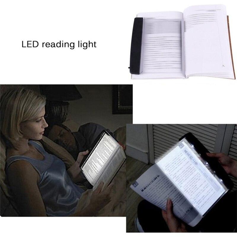 Luz LED de libro portátil, luz de noche de lectura, PLACA PLANA, Panel creativo de viaje para coche, lámpara Led de escritorio para el hogar, interior, dormitorio infantil