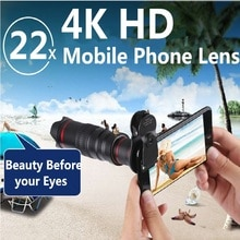 الهاتف المحمول المقربة HD 4K 22x عدسات تكبير للهواتف الذكية تلسكوب كاميرا زووم العدسات آيفون سامسونج هواوي البصرية Lente