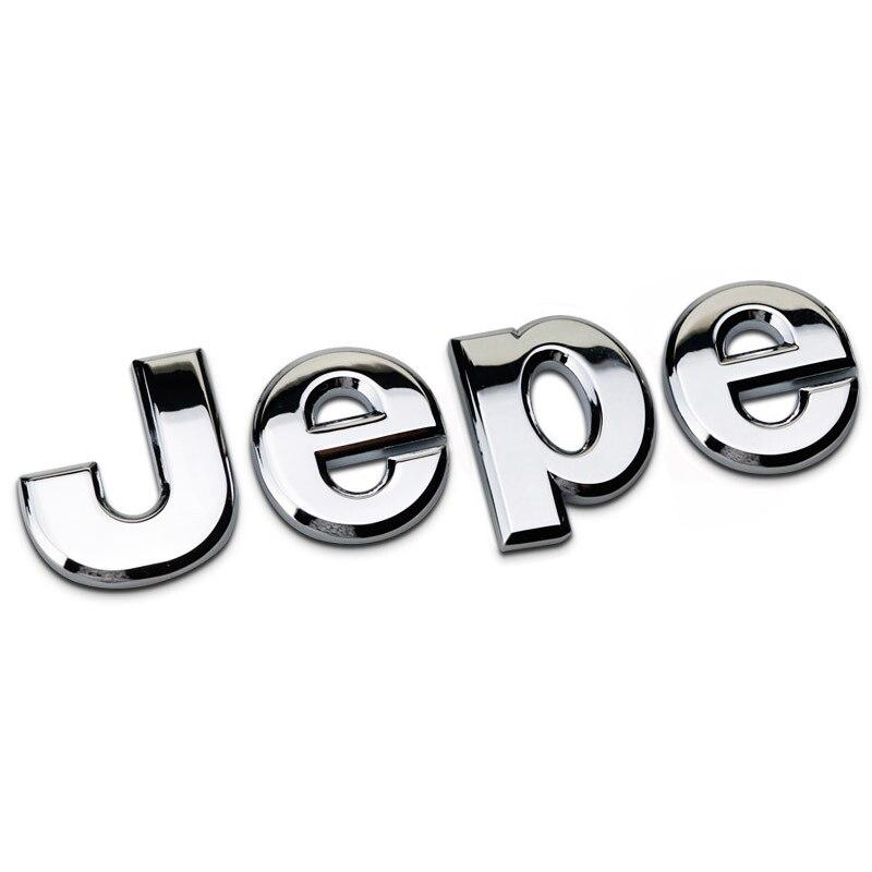 Pegatina de Metal 3D para coche, Logo, insignia, emblema, tronco, pegatina decorativa para Jeep Grand Cherokee Wrangler Commander Compass Patriot