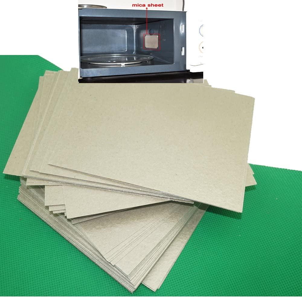 4 piezas de reparación de horno microondas placas de Mica cubierta de guía de onda 15cm x 12cm