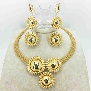 Gold women necklace sets earring for women dubai jewelry sets african beads jewelry set earrings fashion jewelry wedding set