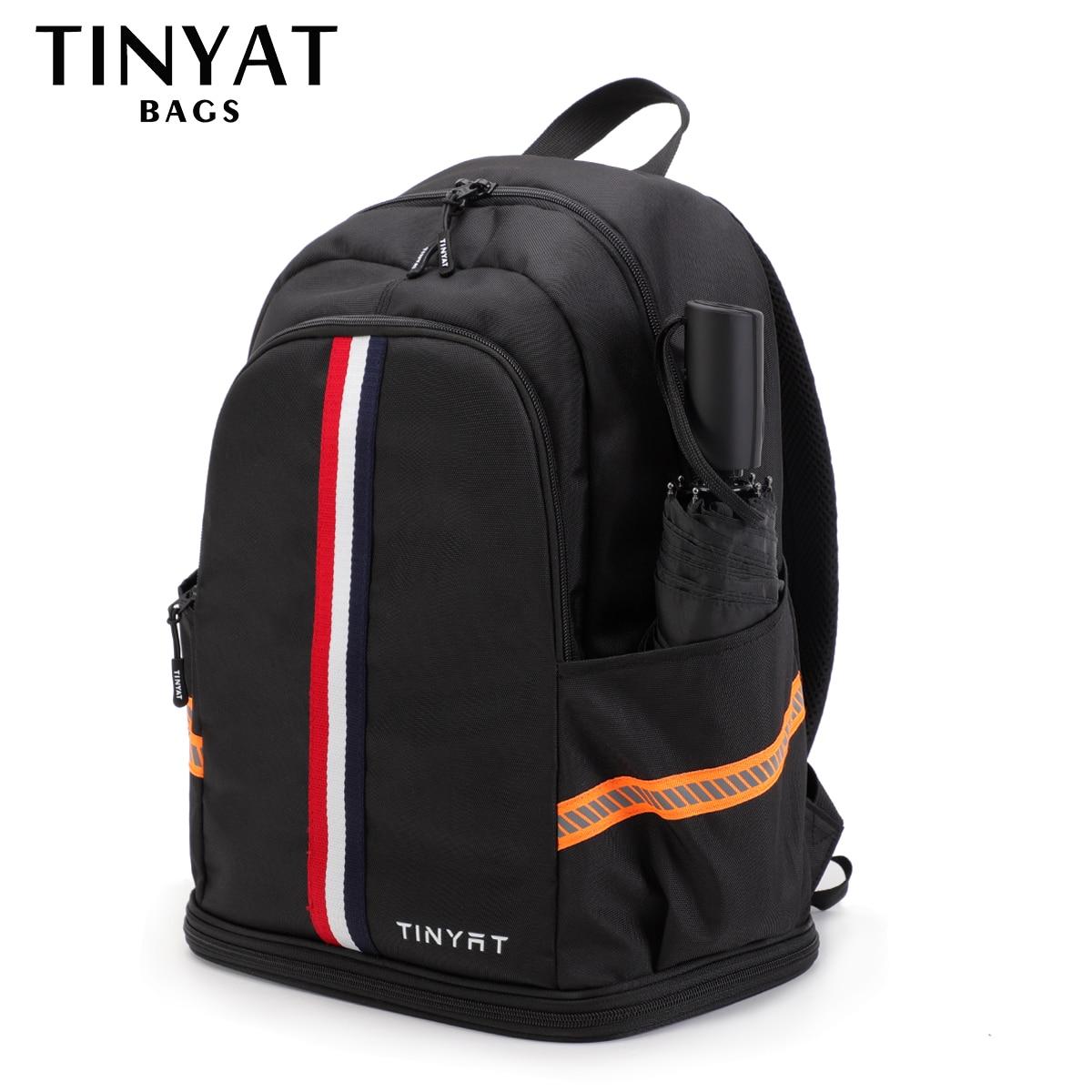 TINYTA Men's backpack Male bag Large Sports Travel backpack Shoes Bag Folded Fitness Backpack School