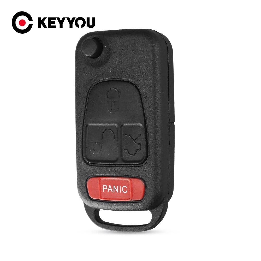KEYYOU 1 2 botones de reemplazo remoto Flip plegable coche llave Shell para Mercedes Benz W168 W124 W202 1984-2004 A C E para dos Smart