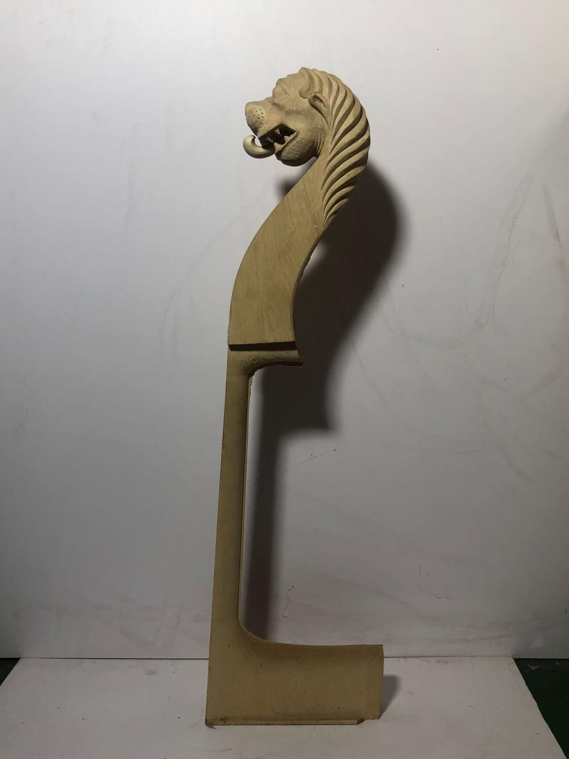 4/4 3/4bass lion cello head Maple material hand carvedSemi finished products enlarge