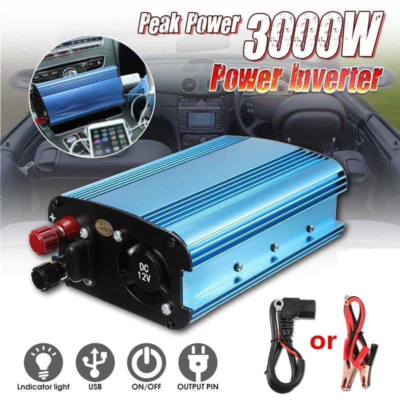 سيارة العاكس 3000W DC 12/24/48/60V إلى 220V الطاقة الشمسية العاكس تحويل ل رحلات الطريق والإجازات في الهواء الطلق سيارة شاحنة