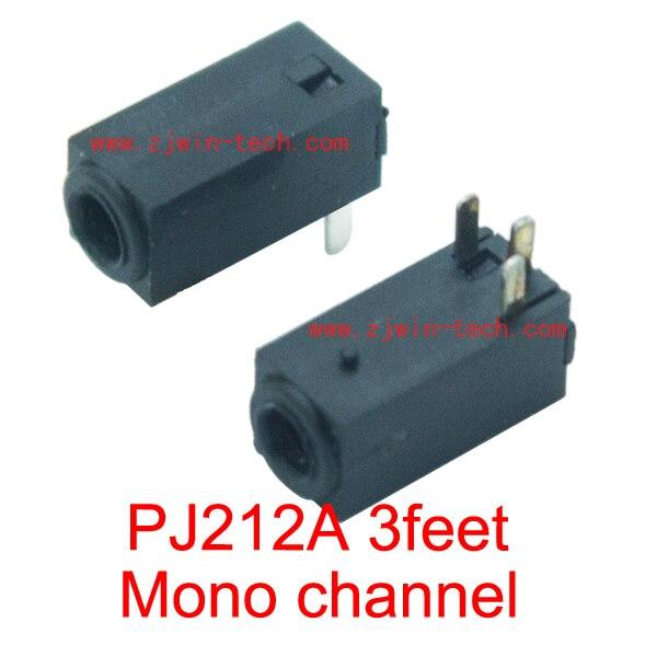 شحن مجاني 100 قطعة/الوحدة 2.5 مللي متر محطة موصل/أنثى جاك/مقبس الصوت/PJ212A