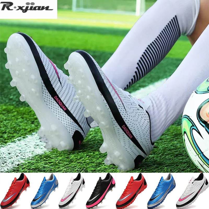Men's FG/TF football shoes non-slip shoes rugby short boots youth training sports shoes children indoor sports shoes size 32-48#