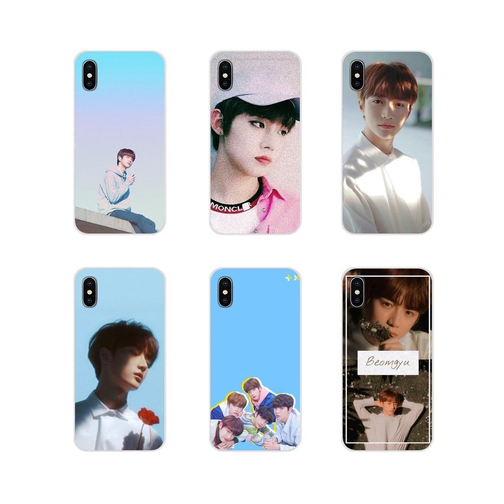 Funda de silicona para Apple iPhone X XR XS 11Pro MAX 4S 5S 5C SE 6S 7 8 Plus ipod touch 5 6 suave y abrigado chico guapo TXT
