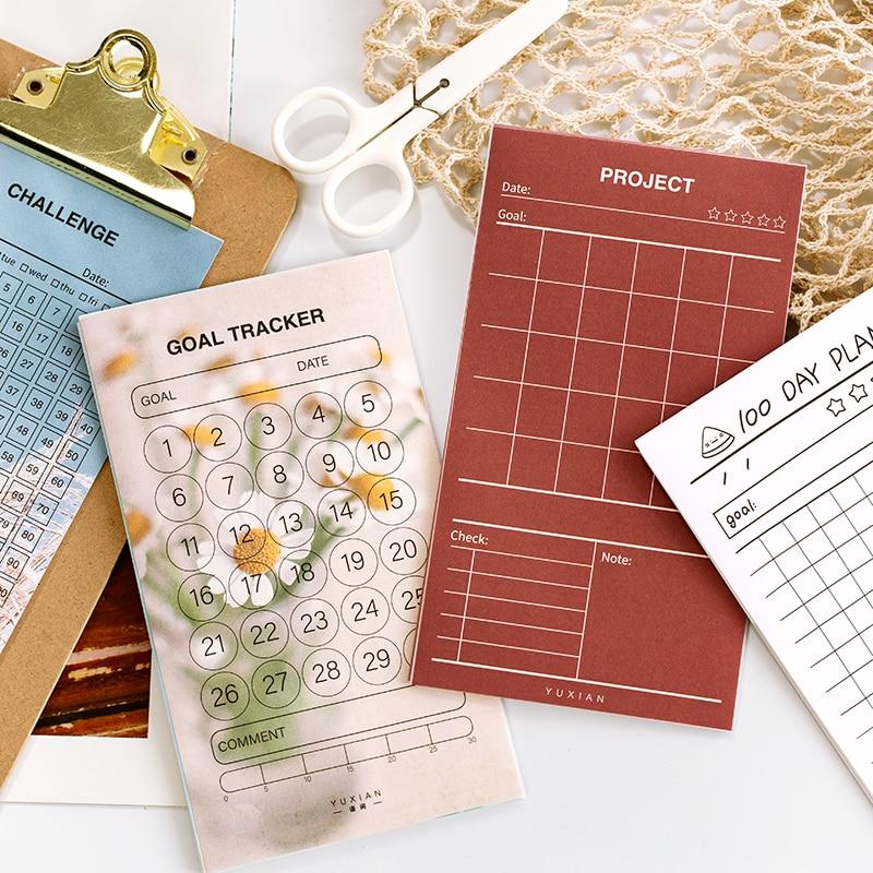 JIANWU 10pc flor y serie de sueños Plan de papel encantador Mini Bloc de notas creativo lindo Bloc de notas útiles escolares kawaii