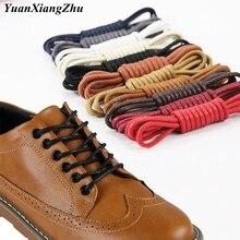 1Pair Cotton Waxed Shoelaces Round Shoe laces Boot Laces Waterproof Leather Shoelace Length 60cm 80c