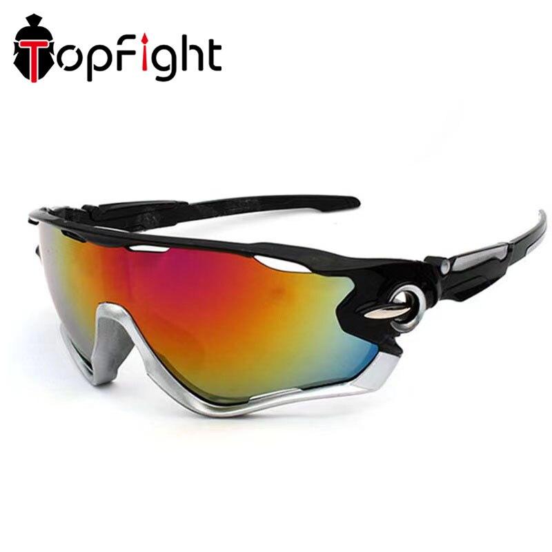 Topfight 2021 Sports Men Sunglasses Road Cycling Glasses Polarised MTB Sports Sunglasses Men Mountai