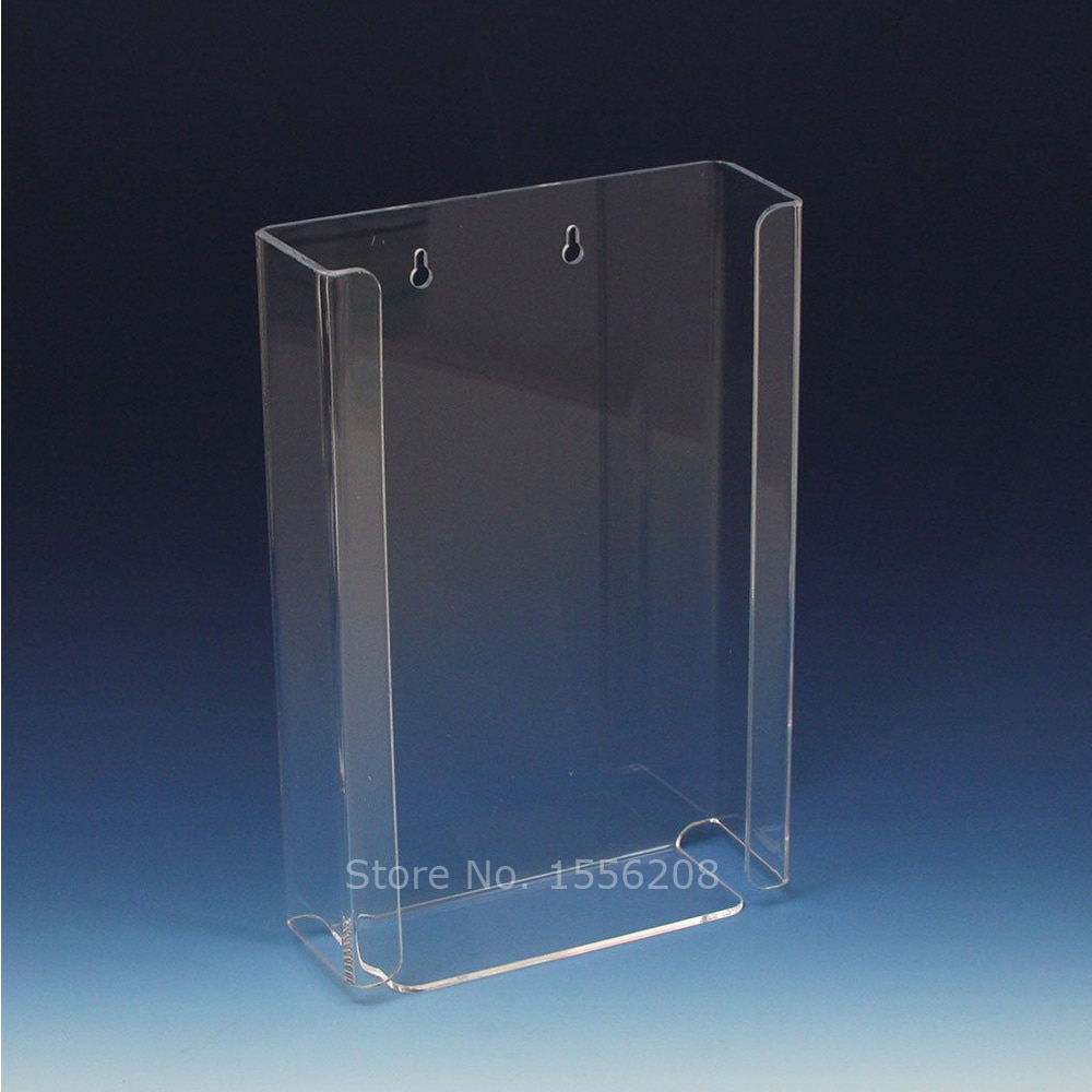 "Transparent Acrylic Disposable Glove Dispenser Triple Box Loading Tissue Box Holder 10.3"" Width x 16"" Height x 3.8"" Depth"